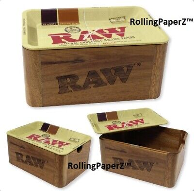 RAW Rolling Papers STASH CACHE MINI - Just released - Magnets Hold 7X5 Tray on