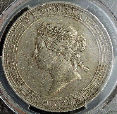 Click now to see the BUY IT NOW Price! 1867 HONG KONG BRITISH GOVERNMENT. LARGE SILVER DOLLAR COIN. PCGS XF