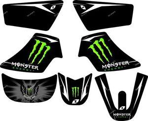 kit deco monster pour yamaha pw50 pw 50 autocollants sticker 50pw piwi moto neuf. Black Bedroom Furniture Sets. Home Design Ideas