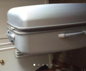Grey large suitcase