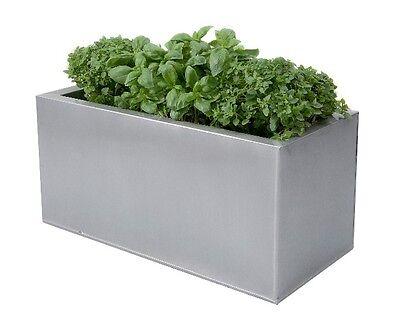 Metal Zinc Kitchen Herb Planter Silver Plant Pot Window Box Patio Garden Trough