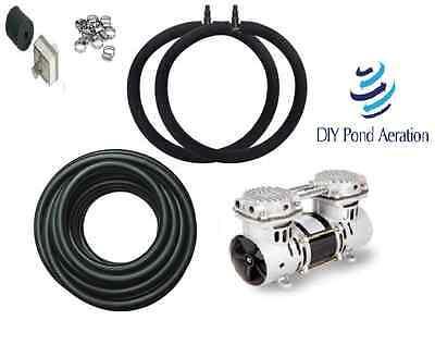 DIYPondPro Pond Aerator System w/100' WTD Hose & Diffuser Aerator KIT POND LAKE
