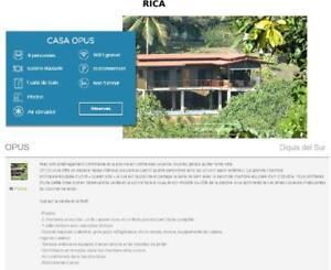 Maison a louer pour vacances a Ojochal au Costa Rica