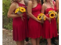 7 red multiway bridesmaids dresses
