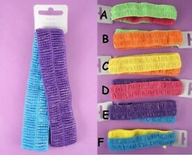 JTY801 Coloured velvet bendy headwrap bandeaux