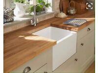 Wooden kitchen work surface