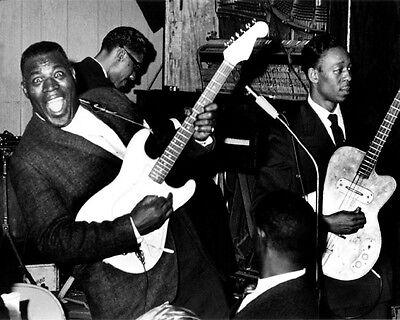 Jazz Soul Singer HOWLIN WOLF & Hubert Sumlin Glossy 8x10 Photo Print Poster