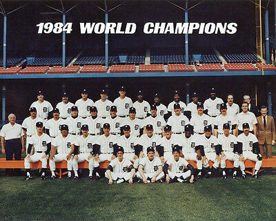 1984 World Series Champs - 1984 DETROIT TIGERS World Series Champions Champs Glossy 8x10 Photo Poster