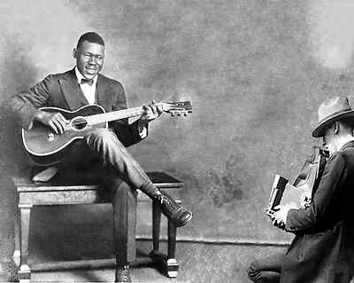 Blues Singer ARTHUR BLIND BLAKE Glossy 8x10 Photo Guitarist Print Music Poster