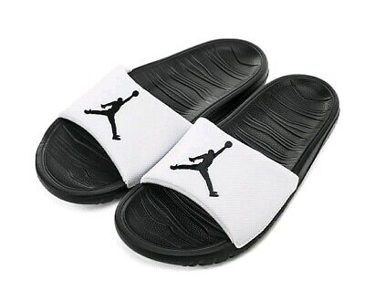 Air Jordan Break Slide Nike Sliders Black White Beach Pool Swimming UK Size 6