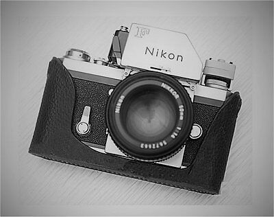 Genuine Leather Half Case for Nikon F (Black) - Stunning! - BRAND NEW
