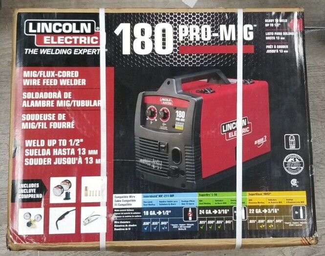 Lincoln Electric PRO-MIG 180 Welder 230-Volt Flux-Cored Wire Feed - K2481