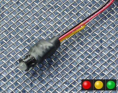5mm LED 12v Voltmeter Battery level Charge monitor indicator lamp gauge meter K