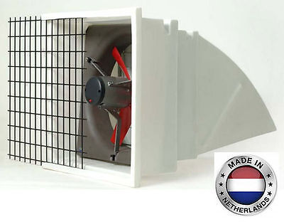 Exhaust Fan Commercial - Incl Hood Screen Shutters - 24 - 3 Spd - 6203 Cfm 1