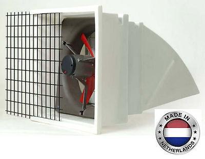 Exhaust Fan Commercial - Incl Hood Screen Shutters - 12 - 3 Spd - 1282 Cfm 1
