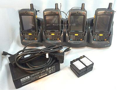 Lot Of 4 Symbol Motorola Mc7095-pkedjqha8wr Wireless Barcode Scanner Wifi Mc70