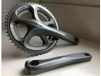 Shimano Ultegra chainset 52/39 immaculate Trek Cannondale Giant road bike