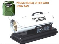 JEFFERSON 60,000 BTU SPACE HEATER ADJUSTABLE THERMOSTAT INFERNO 60 FREE JERRY CAN