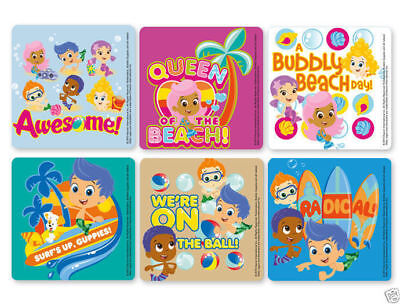 12 Bubble Guppies Stickers Kid Birthday Reward Party Goody Loot Bag Filler Favor - Bubble Guppies Favors