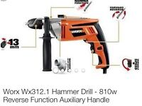 Worx hammer corded drill as good as new used 2 or 3 times still in case and box package