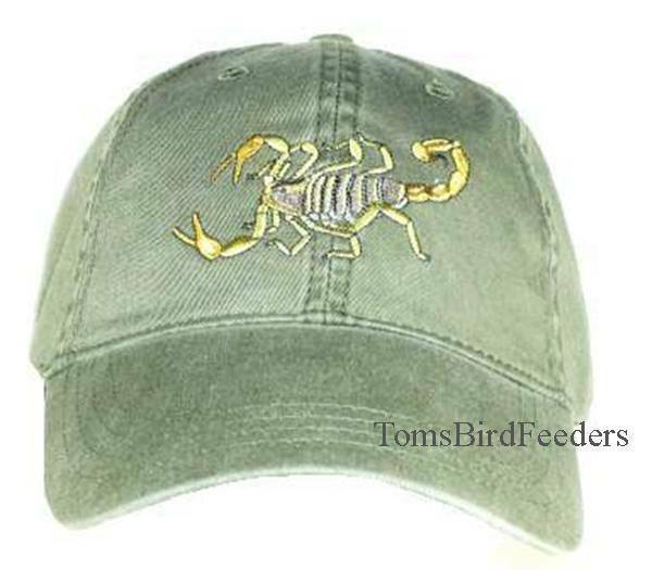 Scorpion Embroidered Cotton Cap NEW Hat Desert Hairy Invertebrate