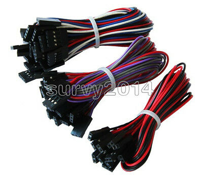 12510pcs 70cm 2pin3pin4pin Female To Female Jumper Dupont Cable