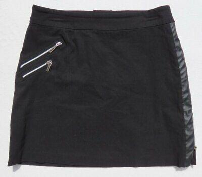 JAMIE SADOCK Golf Skinnylicious Black Faux Leather Skort Skirt + Shorts sz US 8