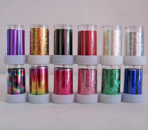 12-Rolls-Mix-colors-Nail-Art-Transfer-Foil-Set-Nail-Tip-Decoration-New ...
