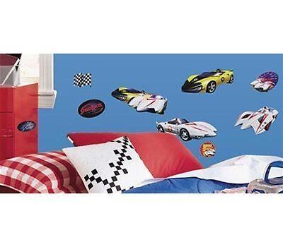 Speed Racer Flag - Wall Sticker 19 pc SPEED RACER Car Flag Reusable Children Room Decor NEW