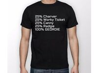 Geordie T - Shirt - Men's - available in all sizes.