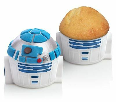 Star Wars R2D2 Droid Robot Cupcake Silicone Mold Tray 4 set lot Cake Muffin Pan , used for sale  Cressona