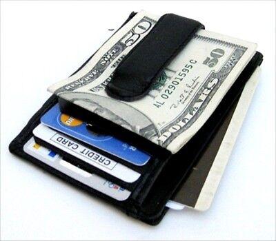 Calfskin Leather Money Clip Thin Wallet Id Front Pocket Badge (Calfskin Wallet)