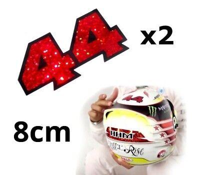 Lewis Hamilton F1 Mclaren Helmet front black white replica helmet sticker 90x40