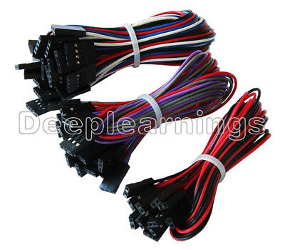 12510pcs 70cm 2pin3pin4pin Female To Female Jumper Dupont Cable New