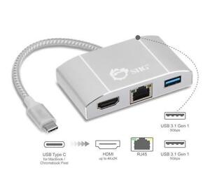 SIIG USB 3.1 Type-C LAN Hub with HDMI Adapter- 4K Ready - JU-H30712-S1