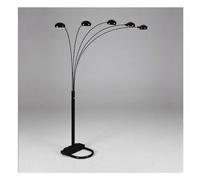 spider arc 5 arm sofa sectional floor lamp available in black gold silver white ebay. Black Bedroom Furniture Sets. Home Design Ideas