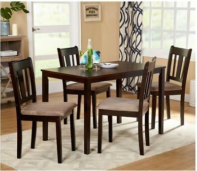 Dining Set 5 Piece Table 4 Chairs Wood Kitchen Dining Room ON SALE DISCOUNT NEW ()