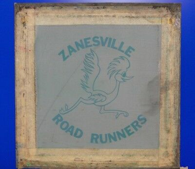 Vintage Zanesville Road Runners Softball Silk Screen T-shirt Stencil Frame Ohio