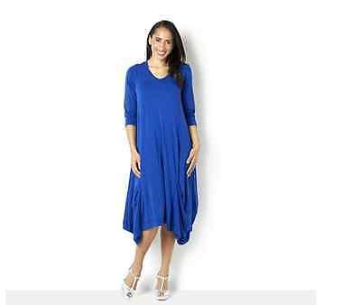 Join Clothes Jersey Dress with Gathered Hem Detail Grecian Blue Medium - Grecian Attire