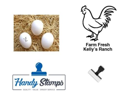 "Personalized Rubber Egg Stamp - 1/2"" impression size (HEN)"