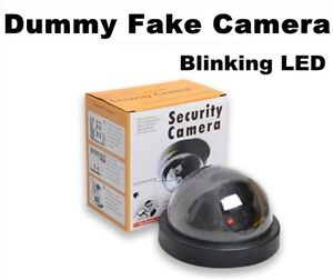Fake Decoy Dummy Security DOME Camera Red Blinking LED