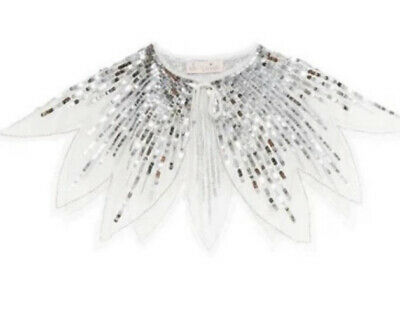 Tutu Du Monde Tinsel Silver Cape With Beautiful Sequins. One Size Fits All.