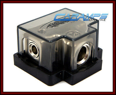 NEW XSCORPION POWER OR GROUND 4 GAUGE IN / OUT CAR STEREO DISTRIBUTION BLOCK 4G