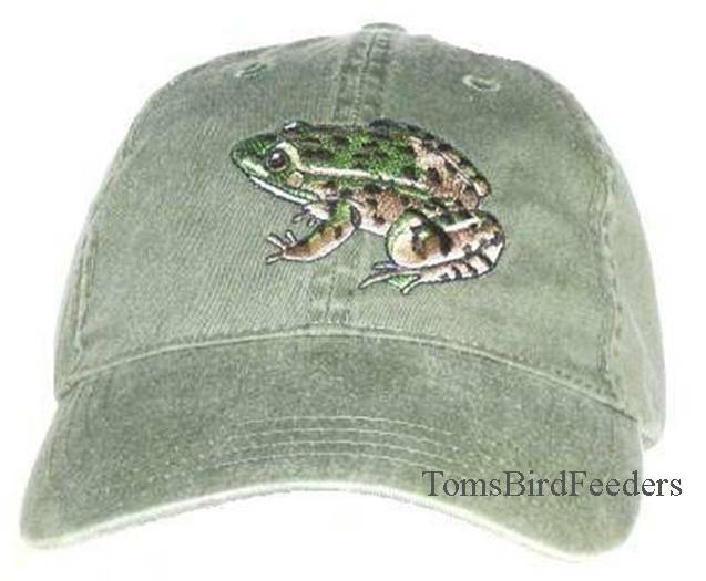 Leopard Frog Embroidered Cotton Cap NEW Hat