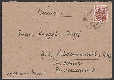 Germany  1948  Soviet District Cover  16 Weida  Ludenscheid