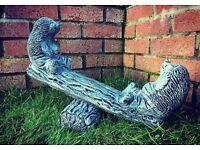 Hedgehog Seasaw concrete garden ornament