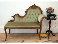 Vintage French Chaise Longue