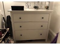 FREE DELIVERY IKEA HEMNES WHITE CHEST OF 3 DRAWERS GREAT CONDITION