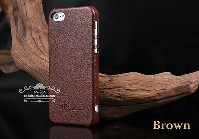 iphone 5/5S/SE Honest Leather Hand Crafted case,Back Cover Only, Brown