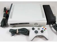 Xbox 360 with all leads and 2 pads & connect